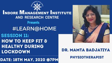 Dr. Mamta Badjatiya (Sr. Physiotherapist) talk